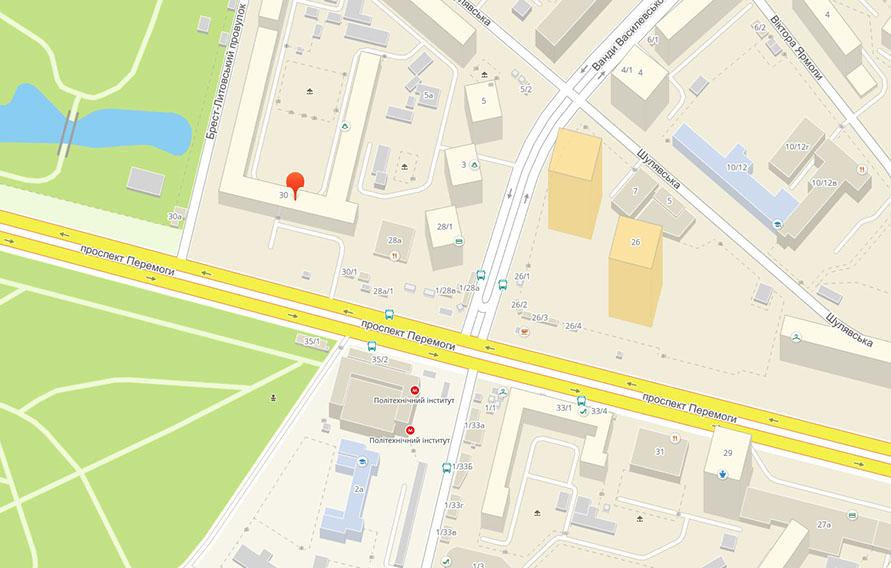 Адрес и контакты школы английского English Planet на карте Киева