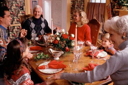 Празднование Дня Благодарения в кругу семьи