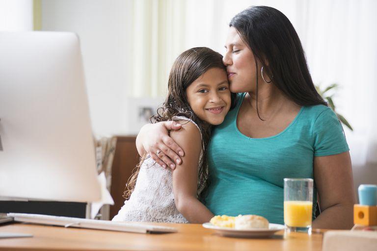 Дочка поздравляет Маму с праздником Дня Матери
