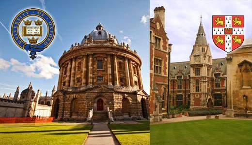 известные английские университеты Оксфорд и Кембридж